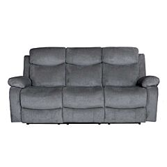 Nikson Three Seater Recliner Rental Charcoal