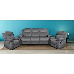 Nikson 3 Seater Recliner Lounge Plus 2 Single Seaters Package Rental