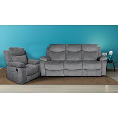 Nikson 3 Seater Recliner Lounge plus Single Seater