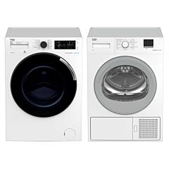 Beko 10kg Front Load Washer & 7kg Heat Pump Dryer Package Deal Rental