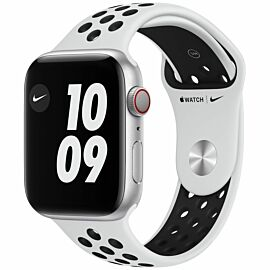 Apple Watch Nike Series 6 GPS + Cellular, 44mm Silver Aluminium Case with Pure Platinum/Black Nike Sport Band