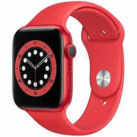 Apple Watch Series 6 GPS, 44mm Red Aluminium Case with Red Sport Band